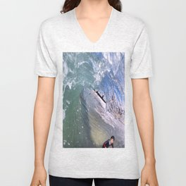 Clear Curl Unisex V-Neck