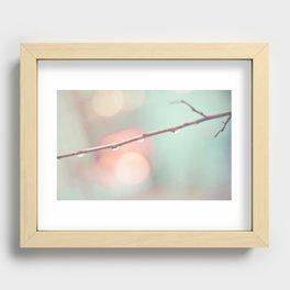 Pastel Rain Recessed Framed Print