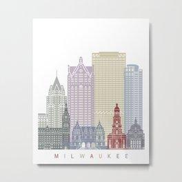 Milwaukee skyline poster Metal Print