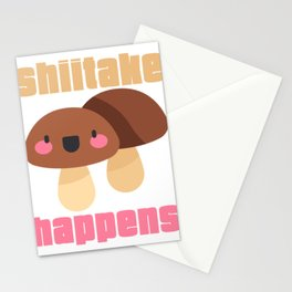 Shiitake Happens Fungi Shiitake Mushroom  Stationery Cards
