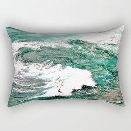 Dramatic Hawaiian Ocean Swirls by Reay of Light Rectangular Pillow