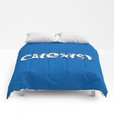 Cat Exist   Coexist Parody Typography Comforters