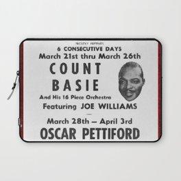 Vintage Birdland Jazz Club Count Basie Orchestra Concert NYC Broadway Advertising Poster Laptop Sleeve
