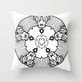 Cybermandala - Cyberman Mandala Throw Pillow