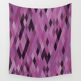 Muted Berry Color Harlequin Pattern Wall Tapestry