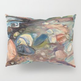 Shore with Red House by Edvard Munch Pillow Sham