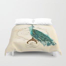 Peacock bustle mannequin Duvet Cover