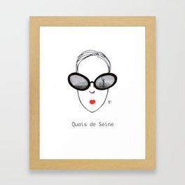 A Few Parisians: Quais de Seine Framed Art Print