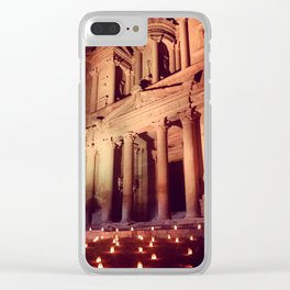 Petra by Night Clear iPhone Case