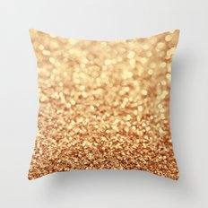 gold Throw Pillow