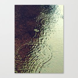 The Skin Of The Water Canvas Print