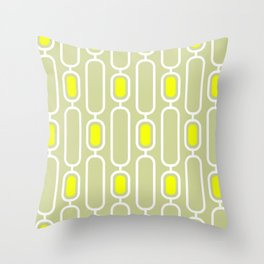 Lemon Shandy Retro 50s Geometric Pattern Throw Pillow