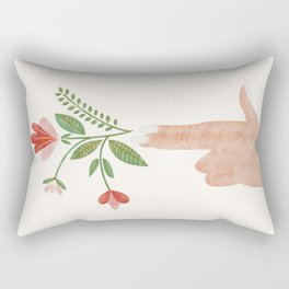 Floral Pistol Rectangular Pillow