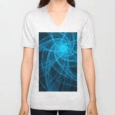 Tulles Star Computer Art in Blue Unisex V-Neck
