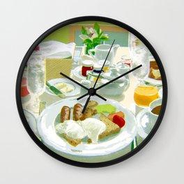 Breakfast at a Hotel Wall Clock