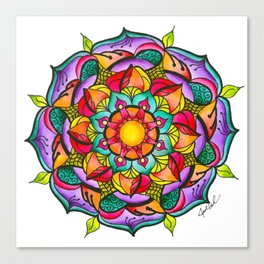 Watercolor Mandala #10 - Original Canvas Print