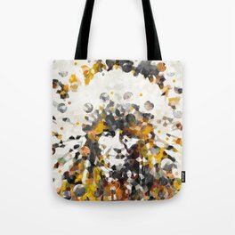 Modern Yellow Native American Indian Chief Tote Bag