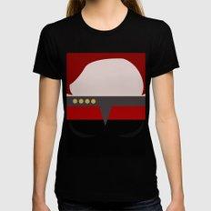 Captian Katherine Janeway - Minimalist Star Trek: Voyager VOY - trektangle - startrek trektangles Womens Fitted Tee X-LARGE Black