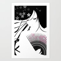 asian Art Prints featuring Asian Obsession by DesignDinamique