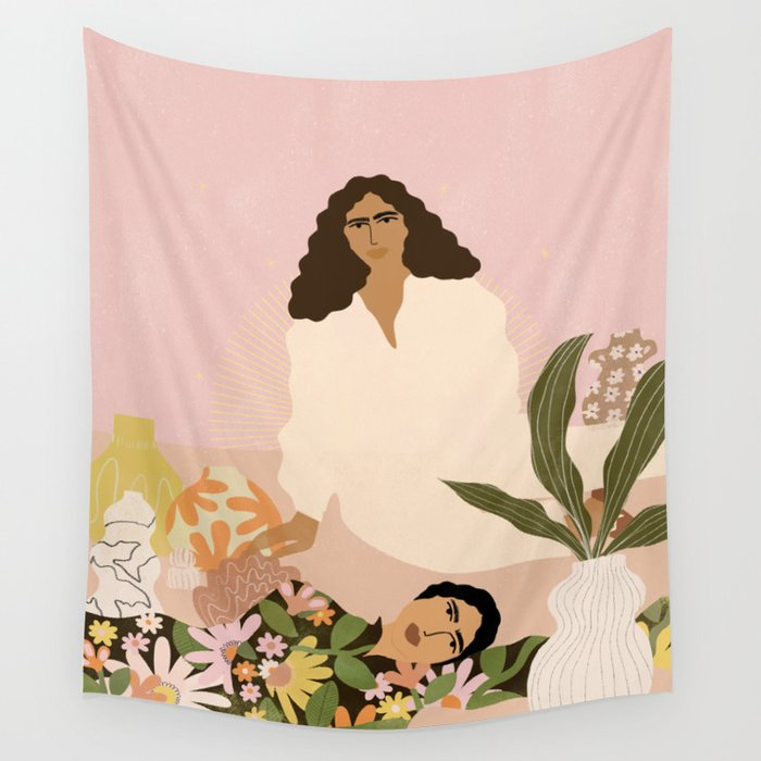 Never too much ceramics Wall Tapestry