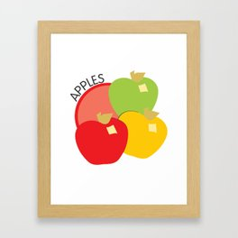 Apples Illustration Framed Art Print