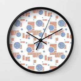 Imperfection in Red, White and Blue Wall Clock
