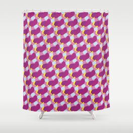 ultraviolet grains Shower Curtain