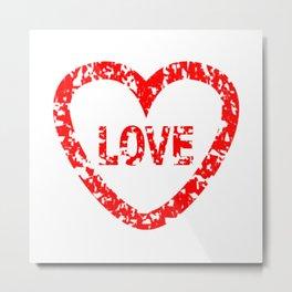 Love Stamp Metal Print