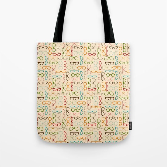 Retro glasses Tote Bag