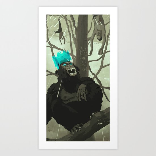 Uneasy Lies the Head That Wears the Holographic Crown Art Print