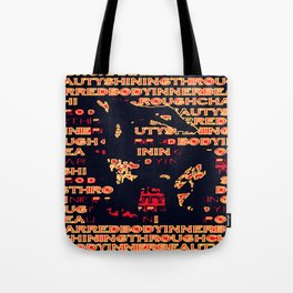 Charred 'Fragmented' Tote Bag