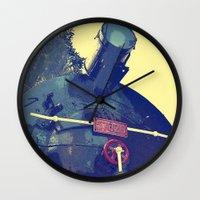 train Wall Clocks featuring train  by gzm_guvenc