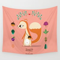 candy Wall Tapestries featuring Candy  by gabriela