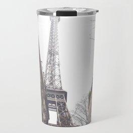 Paris streets, Eiffel tower, city skyline, industrial fine art photo, shabby chic Travel Mug