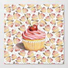 Pink Cupcake II Canvas Print