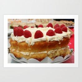 Yum yum cake Art Print