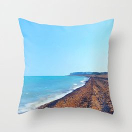 Summer beach Throw Pillow