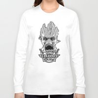 gym Long Sleeve T-shirts featuring GROOT GYM by ADAMLAWLESS