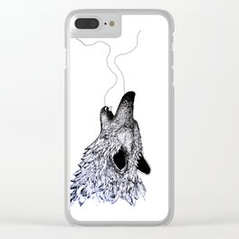 """wolf"" Clear iPhone Case"