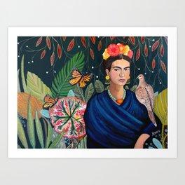Frida et sa nature vivante Art Print