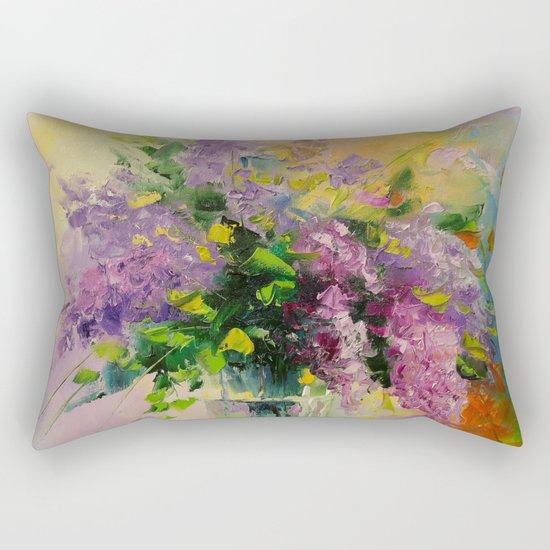 Lilac Bouquet Rectangular Pillow