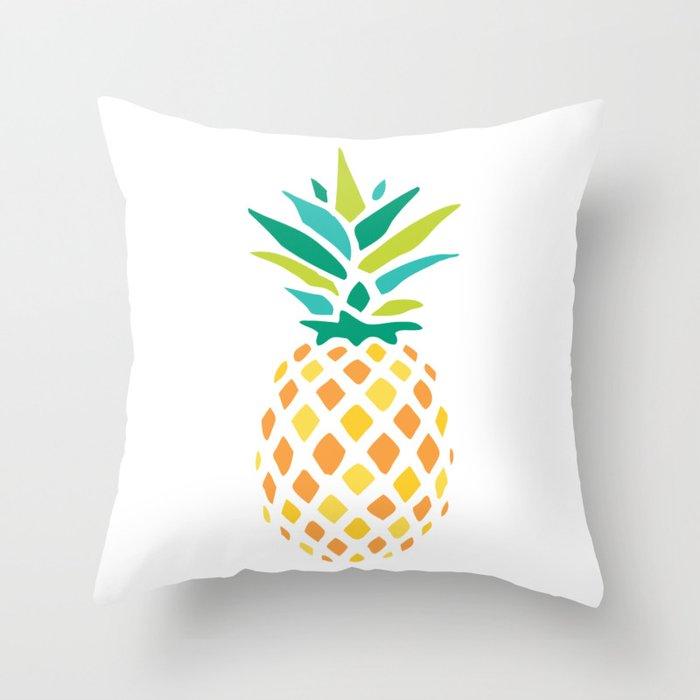 Summer Pineapple Throw Pillow