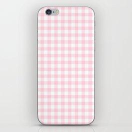 Light Soft Pastel Pink Cowgirl Buffalo Check Plaid iPhone Skin