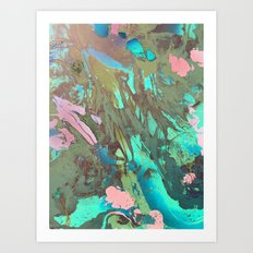 Carribean marble Art Print