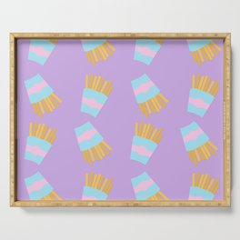 French Fry Pattern Serving Tray
