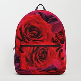Deep Red and Purple Roses Backpack