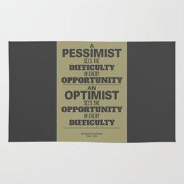 Pessimist / Optimist Rug