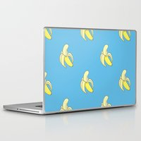 minions Laptop & iPad Skins featuring Banana print by Raccoon Illustrations