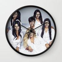 kardashian Wall Clocks featuring Helldashians by Katieb1013
