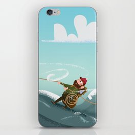 Rock Climbing Man iPhone Skin